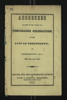 Addresses Delivered on the Occasion of a Temperance Celebration