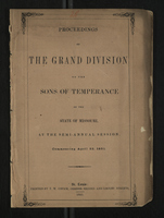 Proceedings of the Grand Division of the Sons of Temperance