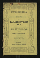 Constitution and By-Laws of Laclede Division, No. 9