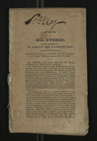 Speech of Mr. Storrs on the Proposition to Amend the Constitution of the United States