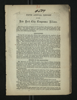Fifth Annual Report of the New York City Temperance Alliance