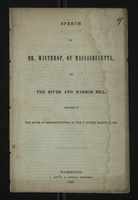 Speech of Mr. Winthrop, of Massachusetts, on the River and Harbor Bill