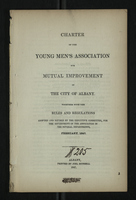 Charter of the Young Men's Association for Mutual Improvement in the City of Albany