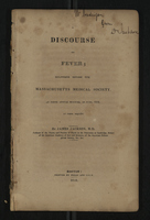Discourse on Fever; Delivered Before the Massachusetts Medical Society