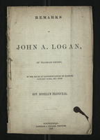 Remarks of John A. Logan, of Franklin County, in the House of Representatives of Illinois