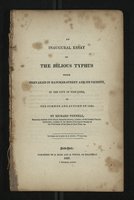 An Inaugural Essay on The Bilious Typhus Which Prevailed in Bancker-Street And Its Vicinity
