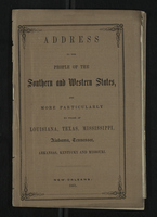 Address to the People of the Southern and Western States