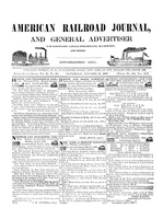 American Railroad Journal October 31, 1846
