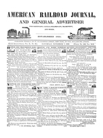 American Railroad Journal November 7, 1846