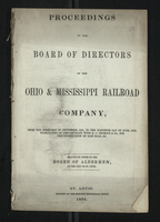 Proceedings of the Board of Directors of the Ohio & Mississippi Railroad Company