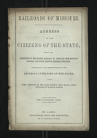 Address to the Citizens of the State on the Railroads of Missouri