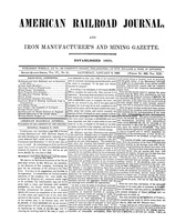 American Railroad Journal January 8, 1848
