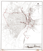 Plat of St. Louis and East St. Louis showing the Railway System of the Terminal RR Assoc. of St. Louis