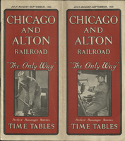 Chicago and Alton Railway July-August-September 1930 Public Timetable