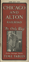 Chicago and Alton Railroad June-July 1929 Public Timetable
