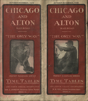Chicago and Alton Railroad October-November 1928 Public Timetable