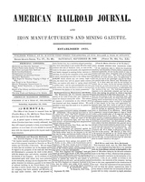 American Railroad Journal September 30, 1848