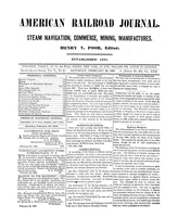American Railroad Journal February 24, 1849