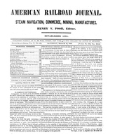 American Railroad Journal March 10, 1849