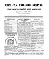American Railroad Journal March 24, 1849