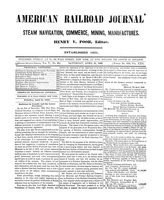American Railroad Journal April 21, 1849