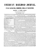 American Railroad Journal May 5, 1849