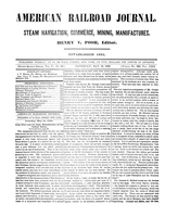 American Railroad Journal May 19, 1849