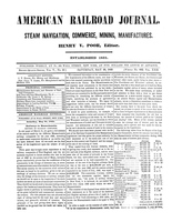 American Railroad Journal May 26, 1849