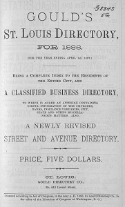 Gould's St. Louis Directory, for 1886. (For the Year Ending April 1st, 1887.)