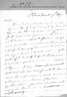 Letter from Joseph Browne to Colonel Thomas Hunt, March 17, 1807