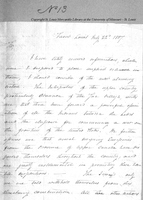 Letter from Frederick Bates to Colonel Thomas Hunt, July 22, 1807