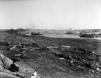 Ohio River, Dredging at Brooklyn Harbor, Ill.