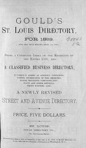 Gould's St. Louis Directory, for 1889. (For the Year Ending April 1st, 1890.)