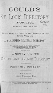 Gould's St. Louis Directory, for 1891. (For the Year Ending April 1st, 1892.)