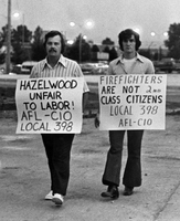 Hazelwood Firefighters Are Out on Strike Again