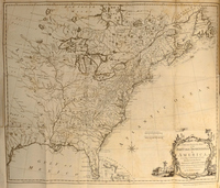 A New and Accurate Map of the British Dominions in America according to the Treaty of 1763