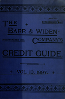 Barr and Widen Company's Credit Guide for the Wholesale Trade