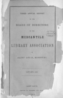 Third Annual Report of the Board of Directors of the Mercantile Library Association