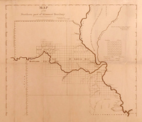 Map of the Northern Part of Missouri Territory