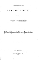 Twenty-Third Annual Report of the Board of Directors of the St. Louis Mercantile Library Association