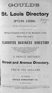 Gould's St. Louis Directory, for 1898 (For the Year Ending April 1st, 1899)