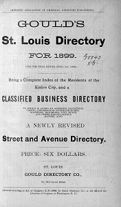 Gould's St. Louis Directory for 1899 (For the Year Ending April 1st, 1900)