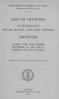 List of Masters, Mates, Pilots, and Engineers of Merchant Steam, Motor, and Sail Vessels 1908