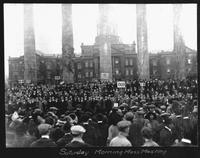 Mass Meeting of MU Boosters Before the MU vs. KU Homecoming Game, 1913