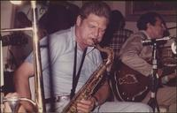 Zoot Sims and Bucky Pizzarelli on stage