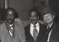 Buddy Tate, Buck Clayton and Zoot Sims with big grins