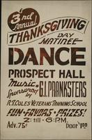 3rd Annual Thanksgiving Day Matinee Dance