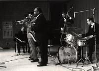 Buck Clayton on stage with Ben Webster