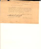 Security pass issued to Charles D. Gould, Jr. on March 1, 1947, by the Office, Chief of U.S. Counsel, authorizing Mr. Gould to enter the War Criminal Wing of Nuremberg Prison on that date