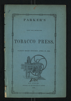 Parker's New and Improved Tobacco Press